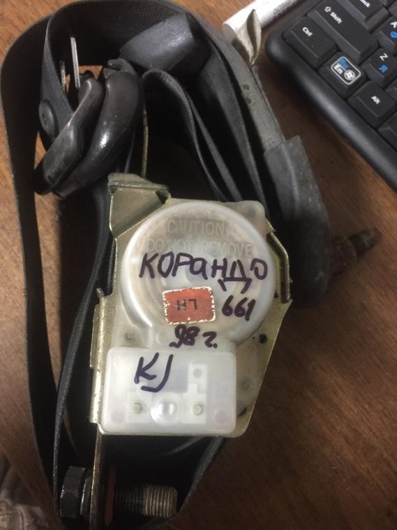 Ремень безопасности Ssangyong Korando KJ OM661 1996 передний левый