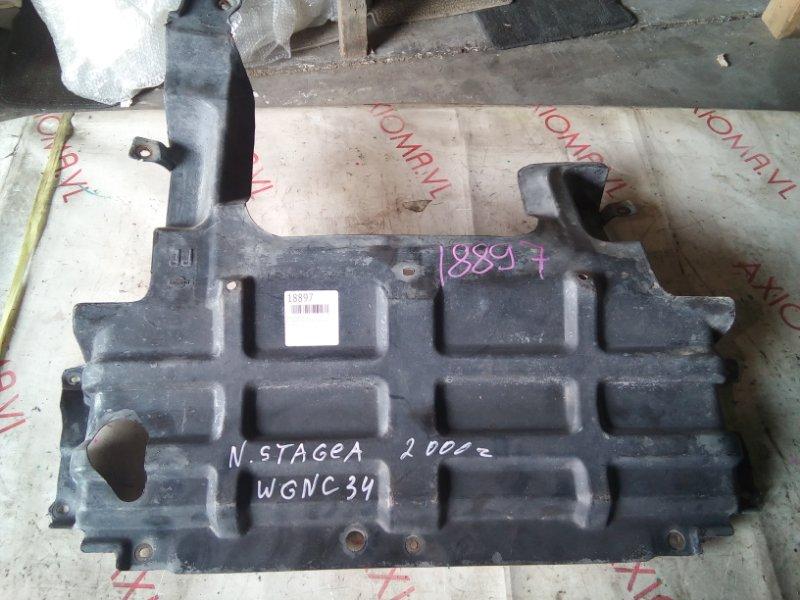 Защита двигателя Nissan Stagea C34 RB25 1998