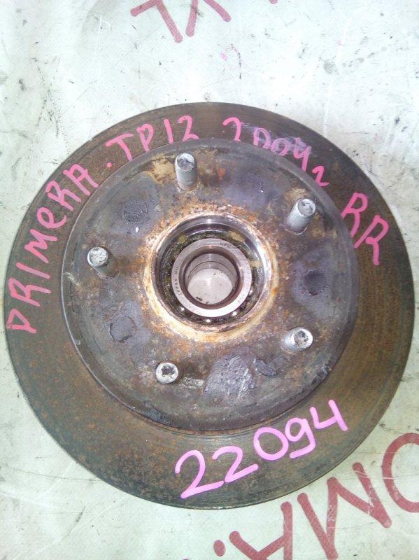 Ступица Nissan Primera TP12 QR20DE 2001 задняя правая