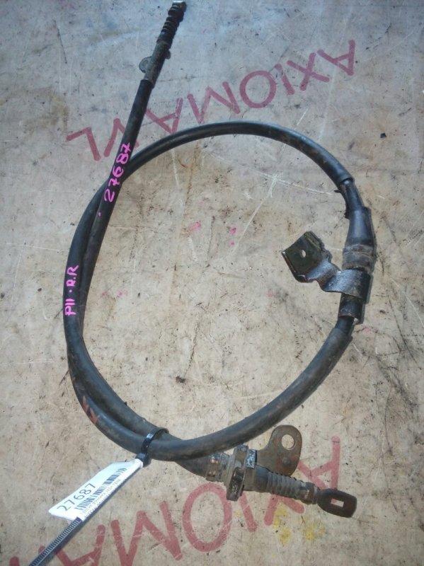 Тросик ручника Nissan Primera WHNP11 SR20DE 1997 задний правый