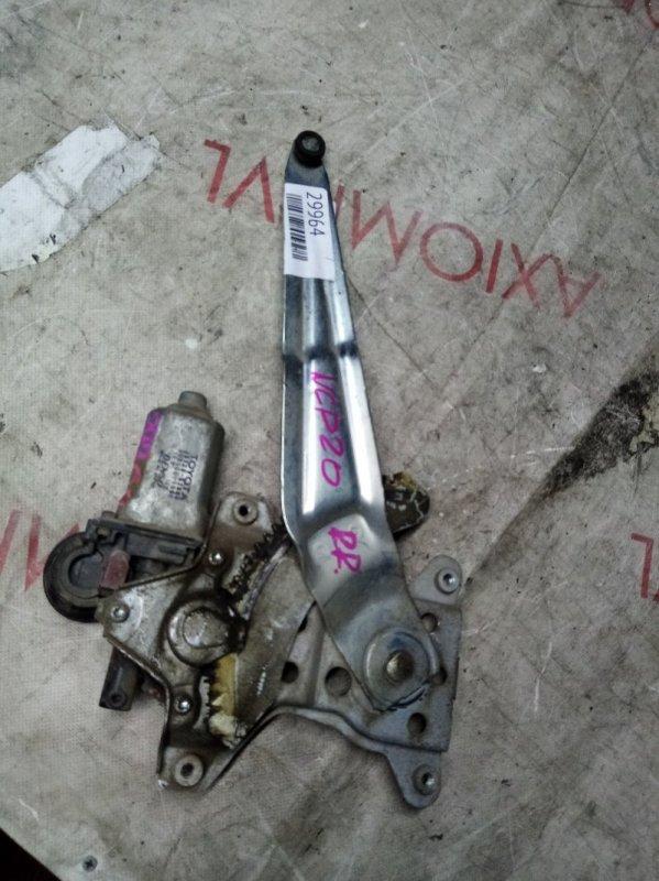 Стеклоподъемник Toyota Funcargo NCP21 1NZ 1999 задний правый