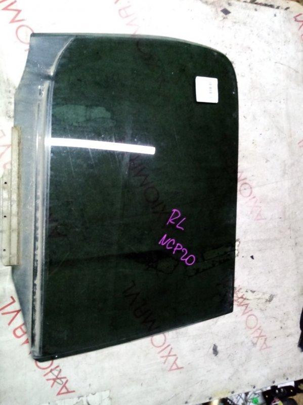 Стекло двери Toyota Funcargo NCP21 1NZ 1999 заднее левое