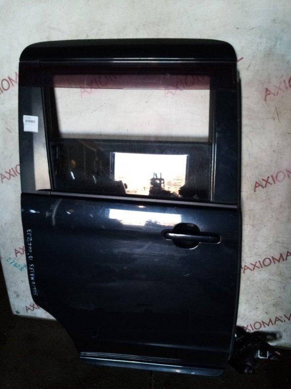 Дверь Suzuki Solio MA15S K12B 2010 задняя правая