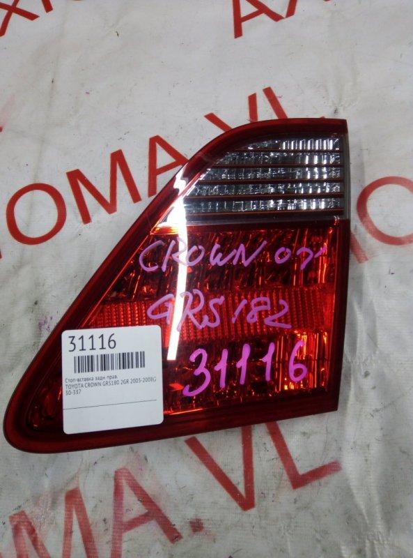 Стоп-вставка Toyota Crown GRS180 2GR 2003 задняя правая