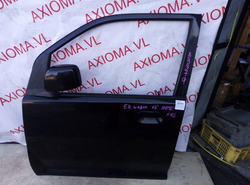 Дверь Mitsubishi Ek Wagon H81W 3G83 2001 передняя левая