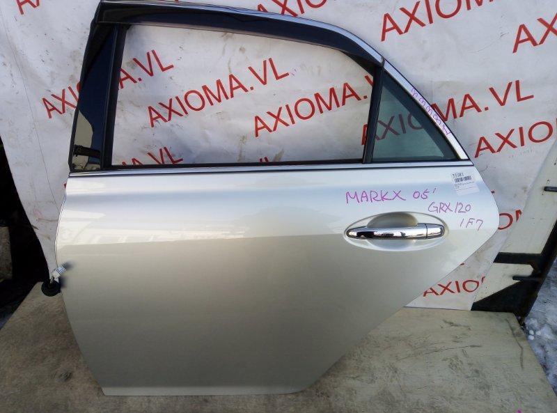Дверь Toyota Mark X GRX120 3GR 2004 задняя левая