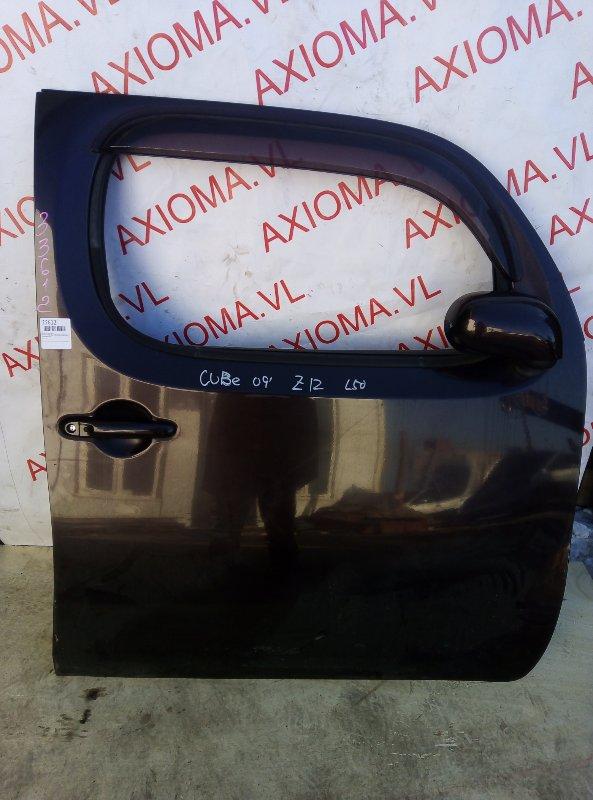 Дверь Nissan Cube Z12 HR15 2004 передняя правая