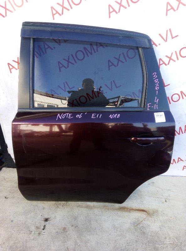 Дверь Nissan Note E11 HR15 2002 задняя левая