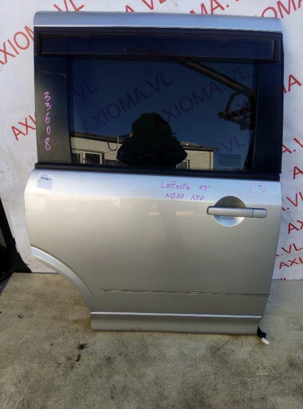 Дверь Nissan Lafesta B30 MR20 2004 задняя правая