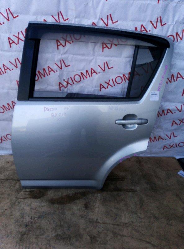 Дверь Toyota Passo QNC10 K3 2004 задняя левая