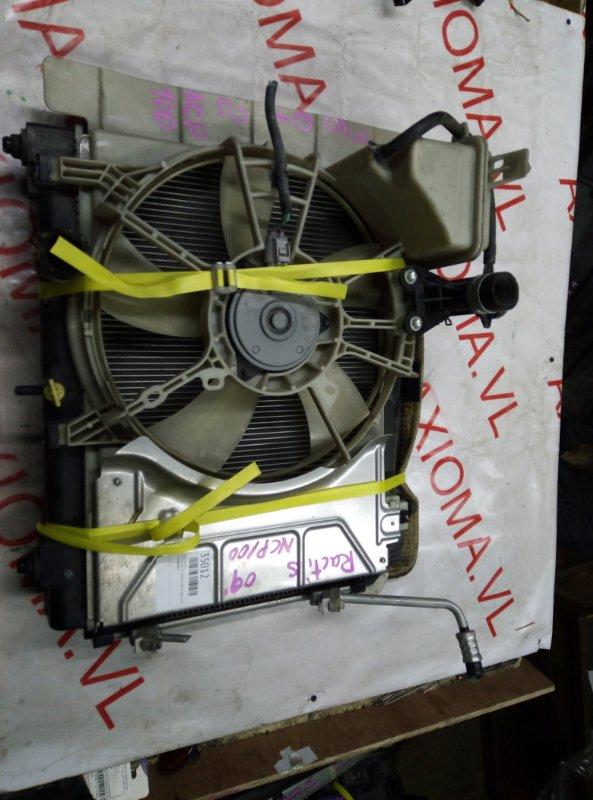 Радиатор двс Toyota Ractis NCP100 1NZ-FE 2005
