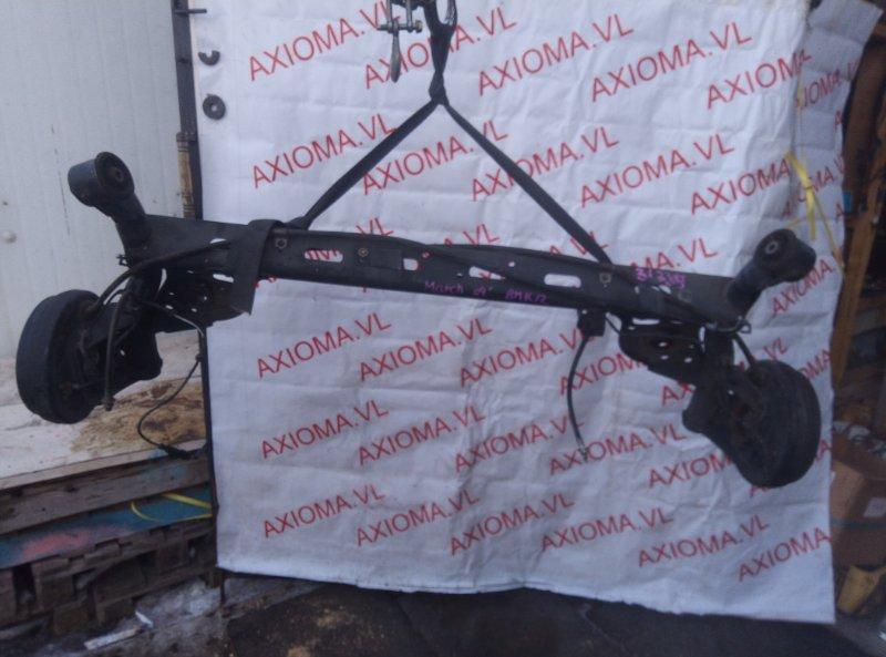 Балка подвески Nissan March BNK12 CR14 2005 задняя