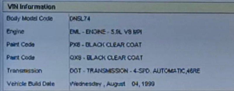 Подлокотник Dodge Durango 1B4HS28Z5YF108485 EML(MAGNUM V8) 1997