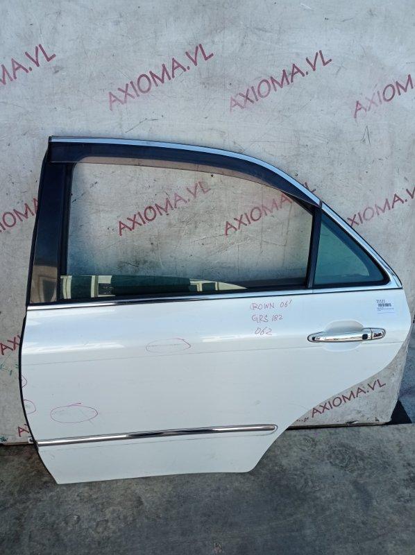 Дверь Toyota Crown GRS180 2GR 2003 задняя левая