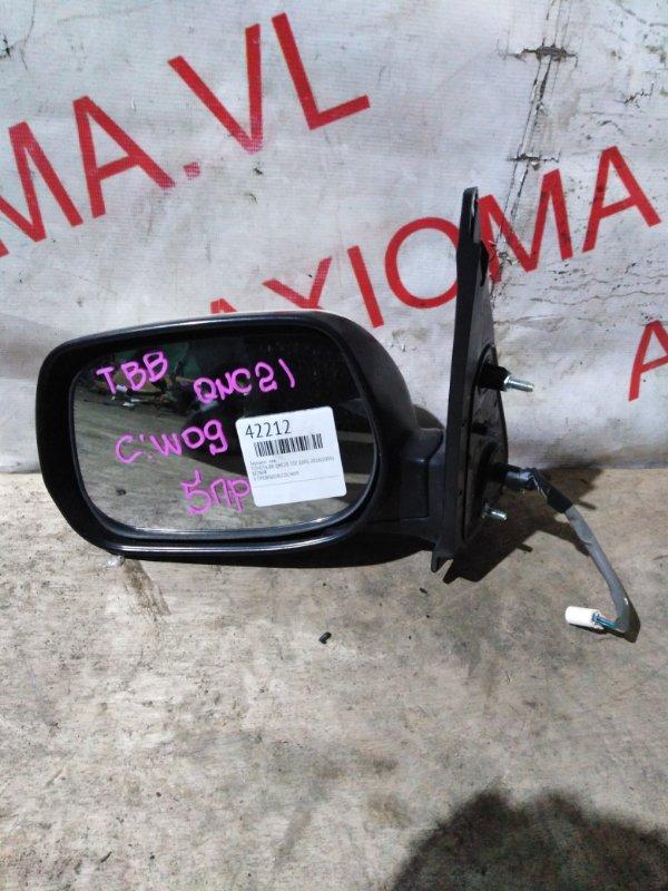 Зеркало Toyota Bb QNC20 3SZ 2005 левое