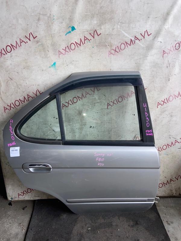 Дверь Nissan Sunny FB15 QG15DE 2002 задняя правая