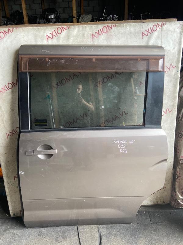 Дверь Nissan Serena C25 MR20 2005 задняя левая