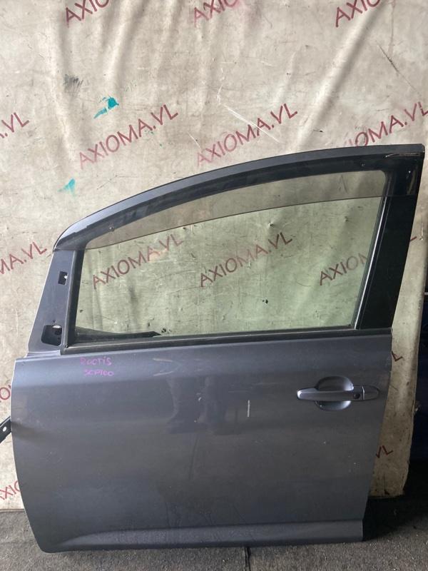 Дверь Toyota Ractis SCP100 2SZ 2005 передняя левая