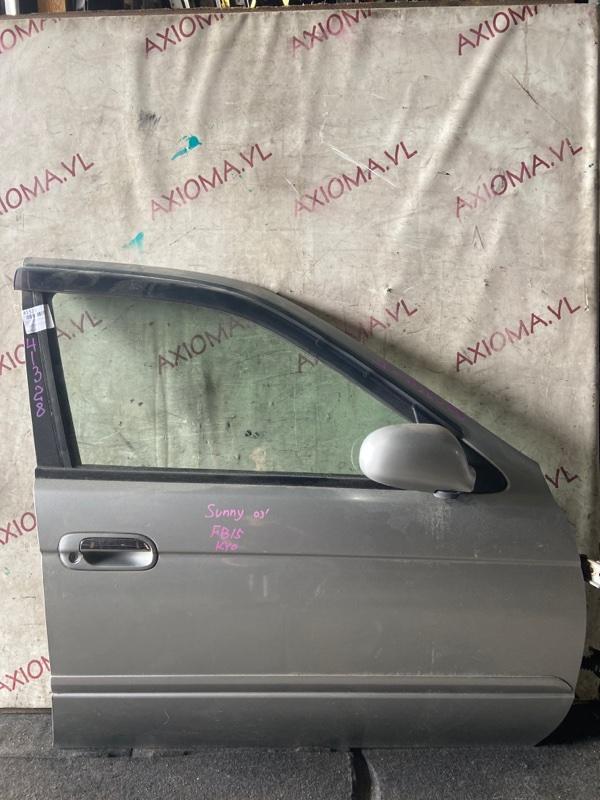 Дверь Nissan Sunny FB15 QG15DE 2002 передняя правая