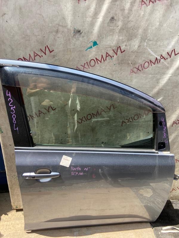 Дверь Toyota Ractis NCP100 1NZ 2005 передняя правая