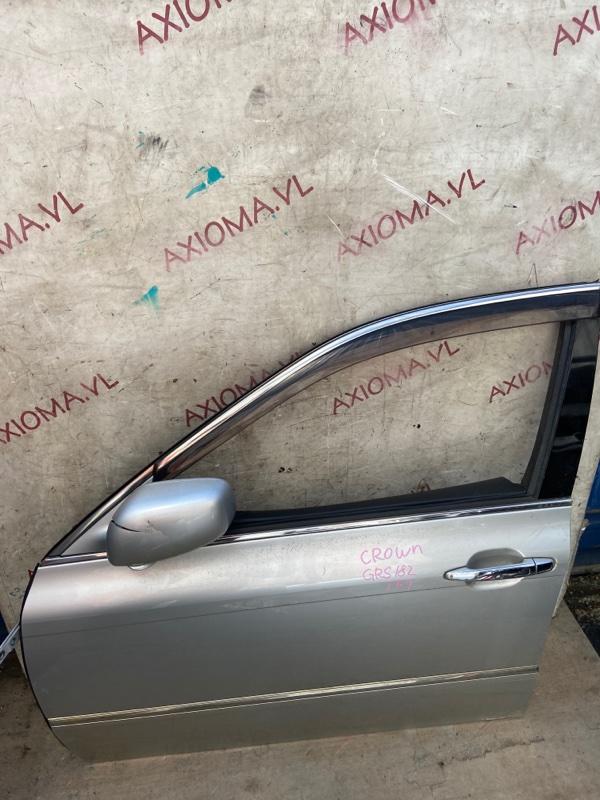 Дверь Toyota Crown GRS180 2GR 2003 передняя левая