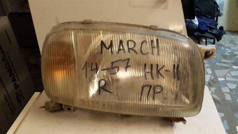 Фара Nissan March AK11 передняя правая