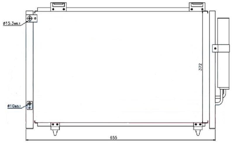 Радиатор кондиционера Toyota Avensis T250 3ZZ 2000