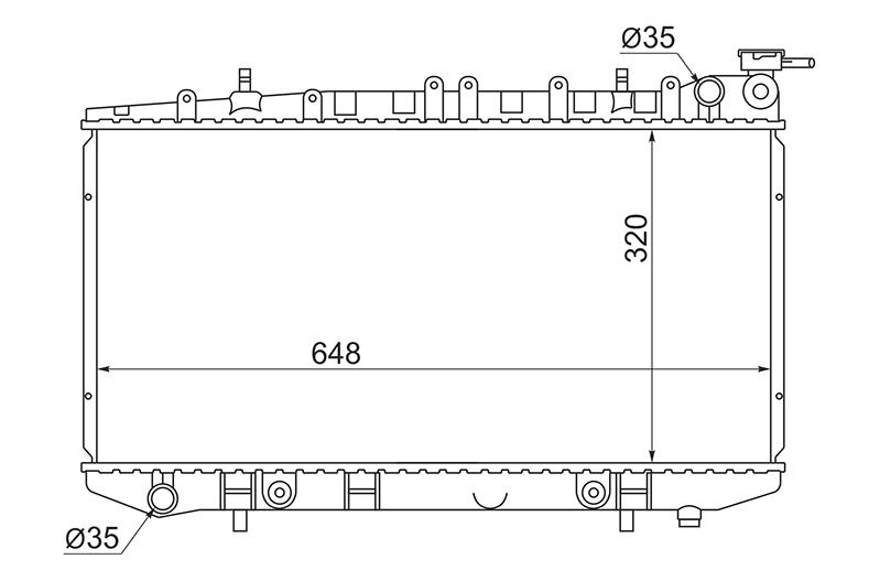 Радиатор охлаждения Nissan Sunny B13 SR18DE 1990