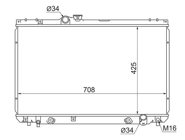 Радиатор охлаждения Toyota Crown Majesta GS171 1GFE