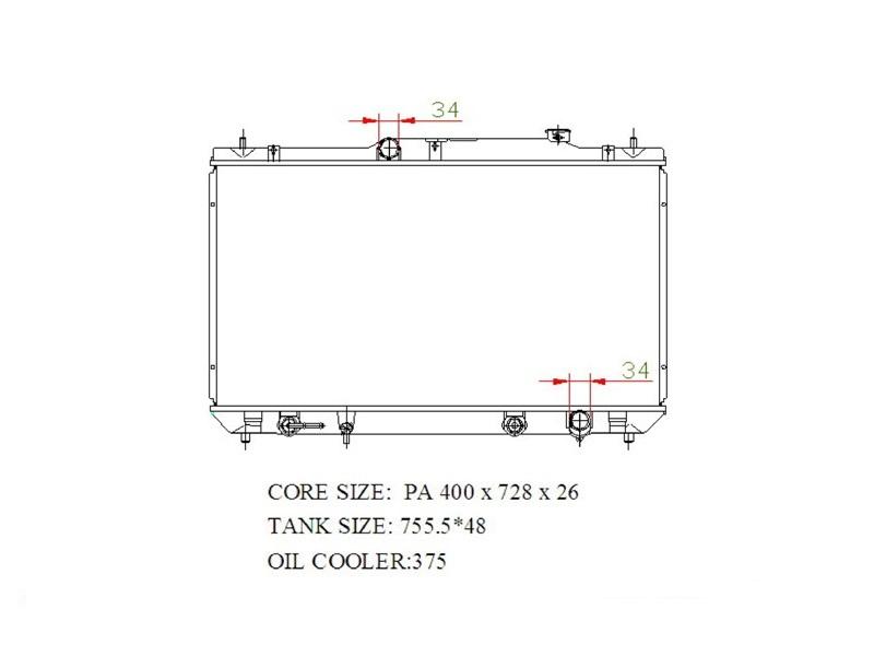 Радиатор охлаждения Toyota Camry ACV36 2AZFE