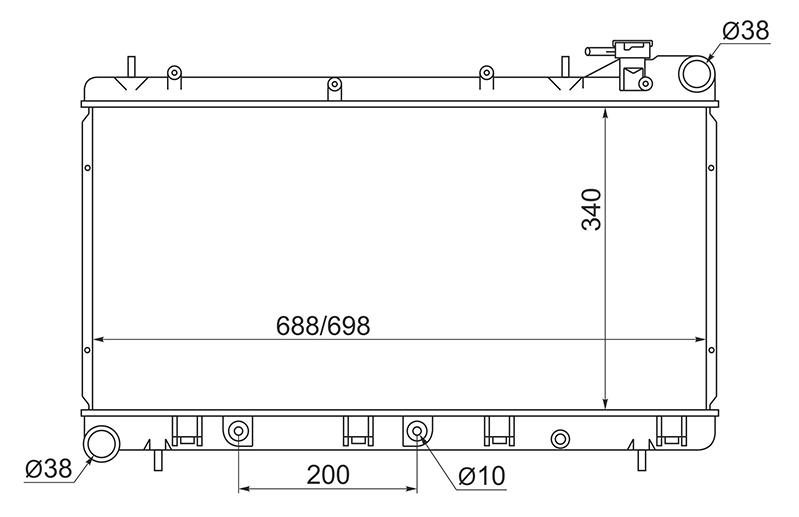 Радиатор охлаждения Subaru Forester SF9 EJ254