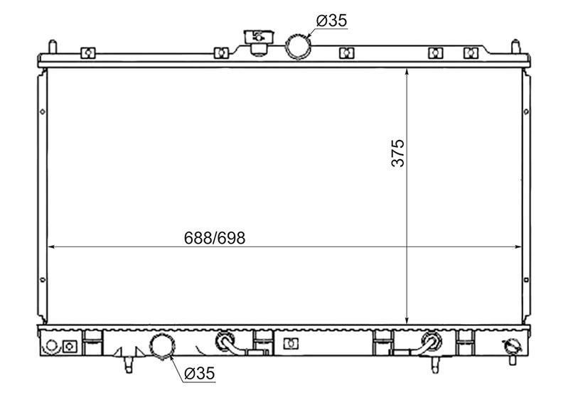 Радиатор охлаждения Mitsubishi Lancer CS1A 4G15