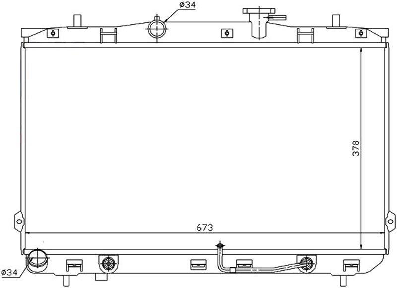 Радиатор охлаждения Hyundai Elantra D4BB