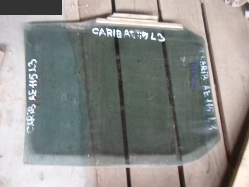 Стекло боковое Toyota Caribe заднее левое