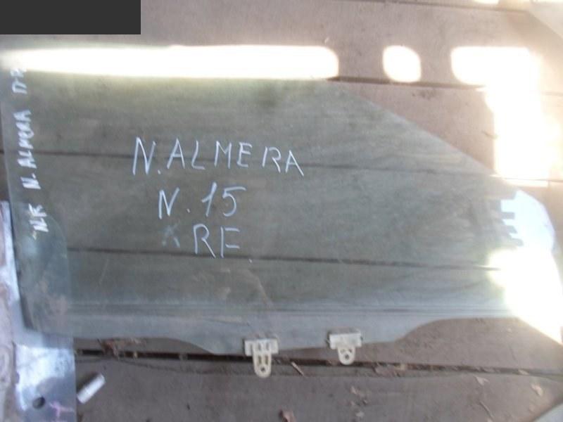 Стекло боковое Nissan Almera N15 переднее правое