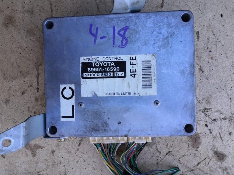 Блок управления двс Toyota Corolla Ii EL51 4E-FE