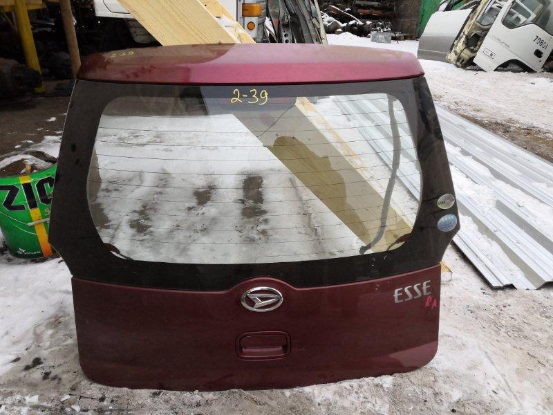 Дверь задняя багажника Daihatsu Esse L235S KF-VE