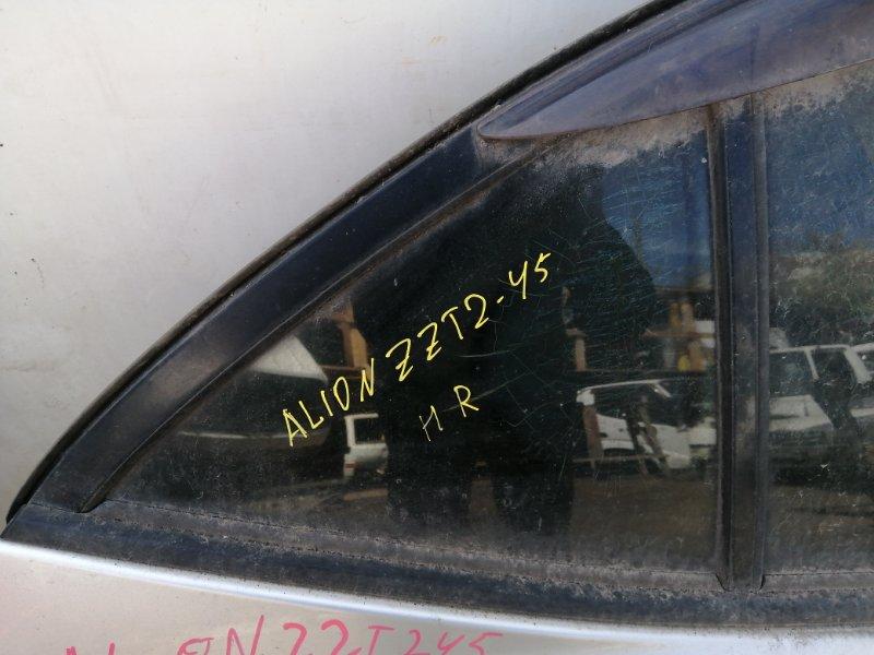 Форточка дверная Toyota Allion ZZT245 задняя правая