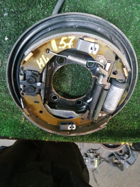 Механизм стояночного тормоза Honda Fit GD2 L13A задний левый