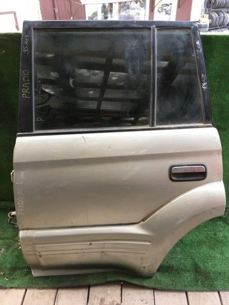 Дверь боковая Toyota Land Cruiser Prado KZJ95W задняя левая
