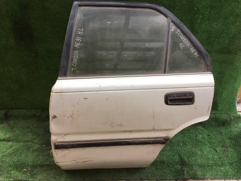 Дверь боковая Toyota Corolla AE91 задняя левая