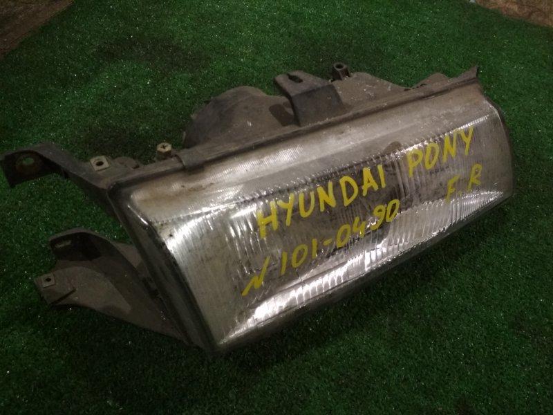 Фара Hyundai передняя правая