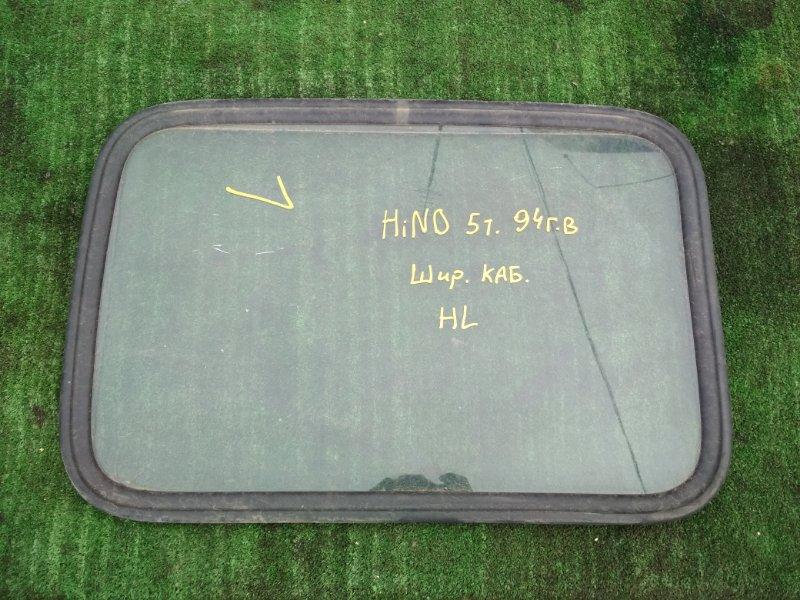 Стекло спальника Hino Ranger 1994 заднее левое