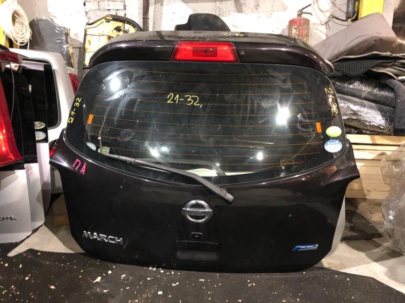 Дверь задняя багажника Nissan March K13 HR12DE