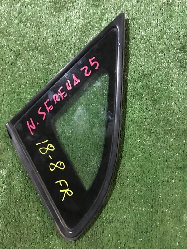 Стекло боковое Nissan Serena CC25 MR20DE переднее правое