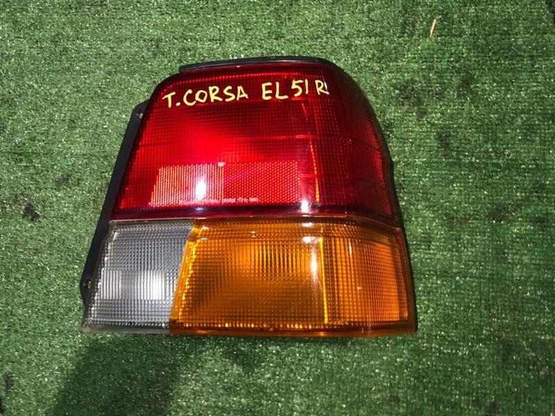 Фонарь стоп-сигнала Toyota Corsa EL51 правый