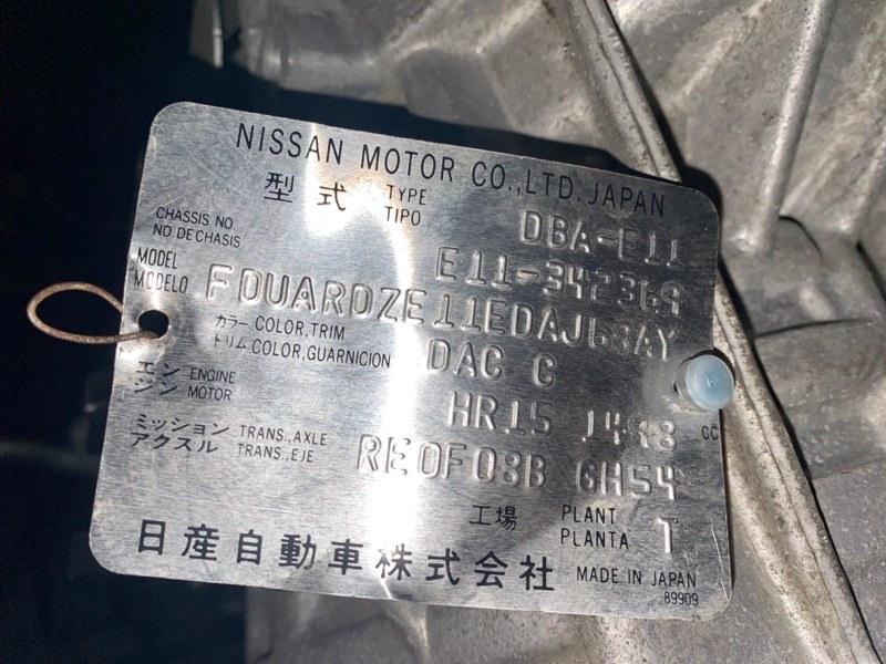 Акпп Nissan Note E11 HR15DE 2008