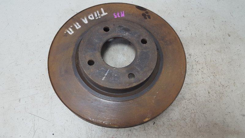 Тормозной диск Nissan Tiida C11X HR16DE 2008 передний правый