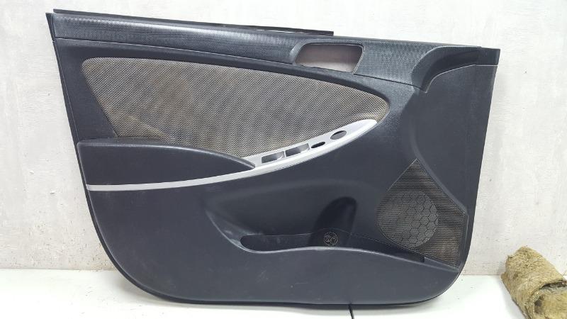 Обшивка карта двери Hyundai Solaris RB G4FA 2012 передняя левая