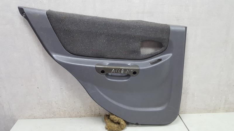 Обшивка карта двери Hyundai Accent LC G4EC 2006 задняя левая
